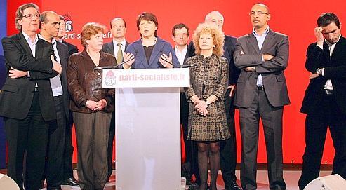 La première secrétaire du Parti socialiste, Martine Aubry, a présenté samedi les têtes de liste de son parti pour les européennes de juin.