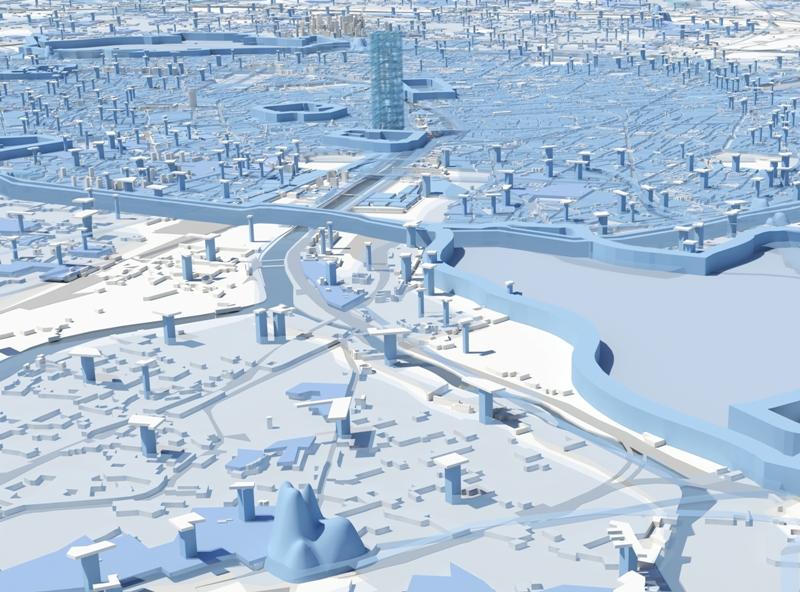 MVRDV avec ACS + AAF : Compacter Paris. L'équipe hollandaise de Winy Maas préconise un recentrage de la capitale mais laisse le jeu ouvert. Son programme «City Calculator» présente, sous la forme d'une démo , plusieurs schémas d'optimisation de l'urbanisme. Le Grand Paris «peut devenir une des villes les plus qualitatives, vertes et compactes au monde», si elle veut s'en donner les moyens. Pour se faire, les Hollandais en appellent à l'adoption du «Big Intensification Act». Un concept qui reste à définir…