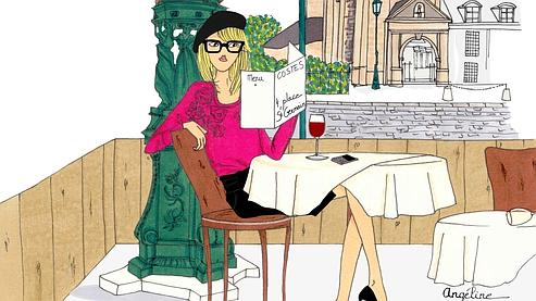 La Parisienne de «DoitinParis» au Café Costes, 4 place Saint-Germain-des-Près. Crédit Angeline pour Doitinparis.