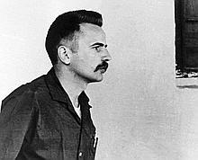 Régis Debray en 1969, lors de son procès en Bolivie.