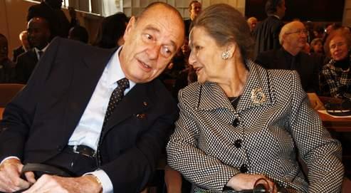 Jacques Chirac a participé, vendredi à l'Unesco avec Simone Veil, au lancement du projet Aladin, initié par la Fondation de la mémoire de la Shoah. Crédit photo : François Bouchon / Le Figaro.