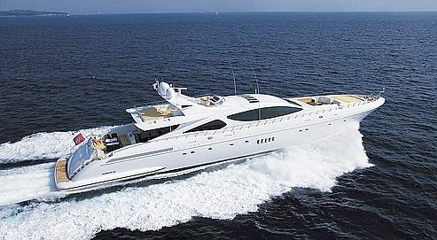 Un yacht de 50mètres (ci-dessus le Mangusta 165) du fabricant Rodriguez coûte entre 25 et 30 millions d'euros.