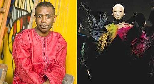 Youssou N'Dour, le Sénégalais (à g.) et Salif Keita, le Malien : deux monstres sacrés de la musique africaine (DR).