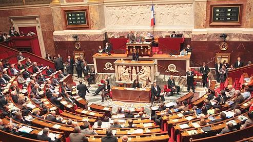 L'Assemblée nationale le 29 avril, lors du discours de la ministre de la Culture Christine Albanel.