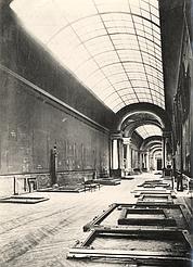 La Grande Galerie abandonnée. (Musée du Louvre, fonds Aulanier)