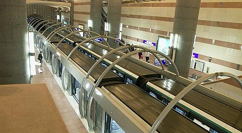 La station Bibliothèque-François-Mitterrand de la ligne automatique Météor (ligne 14).