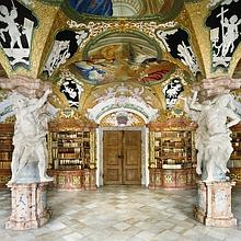 Bibliothèque de l'abbaye bénédictine de Metten, en Allemagne.