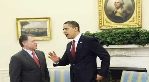 Barack Obama et le roi Abdallah de Jordanie dans le Bureau ovale de la Maison-Blanche, à Washington, le 21avril dernier.