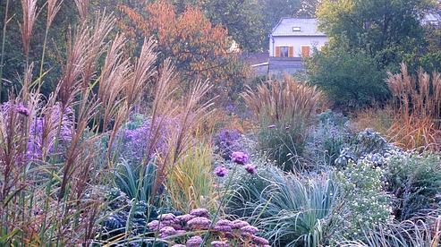 Le Jardin de l'Hermitage à Pontoise, inspiré par Monet, Picasso, Van Gogh et Cézanne (F. Bouchon / Le Figaro).
