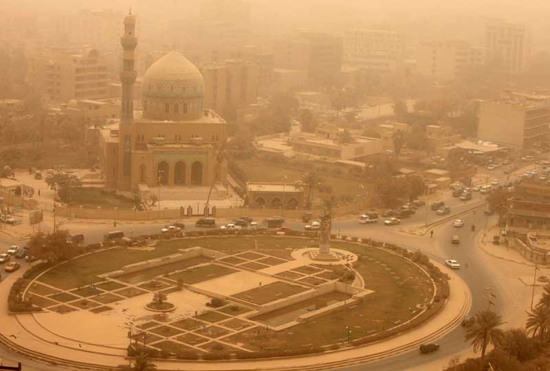 Bagdad sous le sable. La capitale irakienne est plongée depuis hier mercredi dans l'obscurité, suite à une tempête de sable qui a paralysé une partie des réseaux électriques de la ville.
