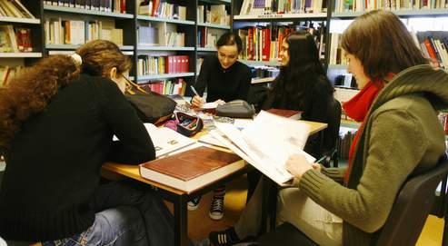 Séance de révision au lycée franco-allemand de Buc (Yvelines).