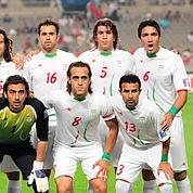 Équipe nationale de football d'Iran, lors du match contre la Corée du Sud,le 17 juin 2009.