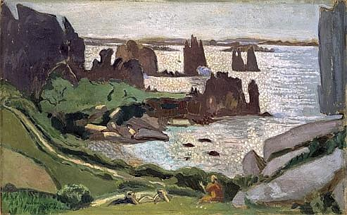 Vue de Plougrescant, 1937 (Catalogue raisonné de l'oeuvre de Maurice Denis/ADAGP, Paris 2009)
