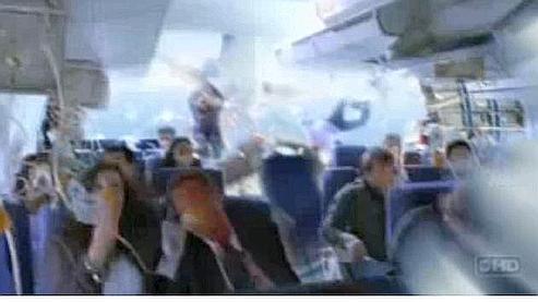 Scène d'ouverte du pilote de la série à succès «Lost, les disparus».