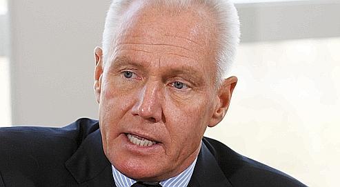 Le directeur général de Carrefour, Lars Olofsson, en mars,dans son bureau à Levallois-Perret.