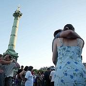 Bal populaire du 14 juillet sur la place de la Bastille.