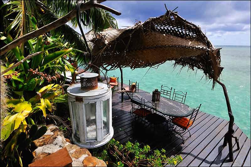 La jolie terrasse de Fenua Mata'i'oa.