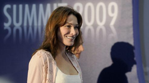 Carla Sarkozy (ici à Baden Baden en avril dernier) est arrivée jeudi en fin d'après-midi à L'Aquila.