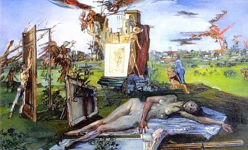 Hommage à Jacques Callot, peint en 1942 par Francis Gruber. (Musée des Beaux-Arts, Nancy)