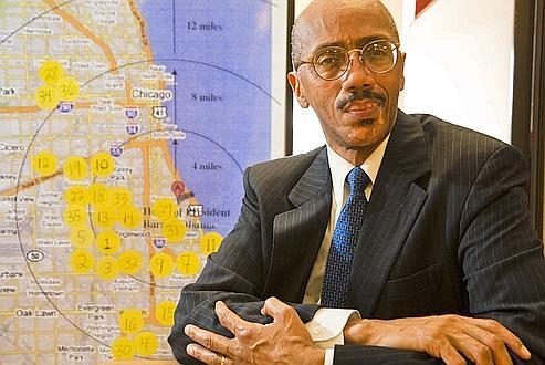 Phillip Jackson est le directeur de Black Star, une association du quartier noir de Bronzeville, situé dans le sud de Chicago.
