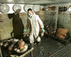 En Juillet 2007, Coffeyville a été victime d'importantes inondations. Ici, un habitant nettoie son restaurant endommagé.
