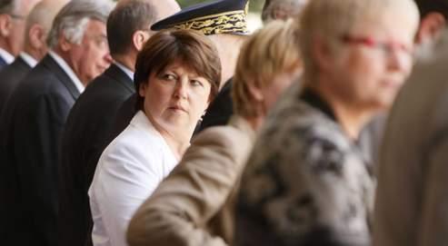 Martine Aubry, à Lille lors des cérémonies du 14 Juillet.