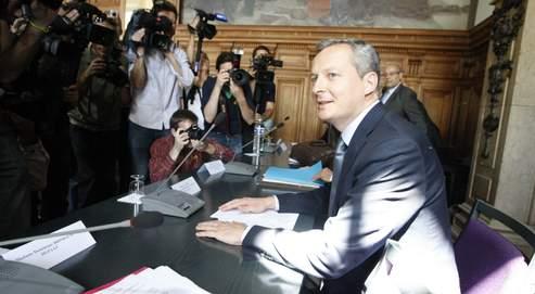 Bruno Le Maire, mardi après-midi, à l'ouverture de la réunion qui s'est tenue au ministère de l'Agriculture.