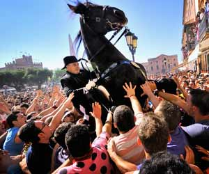 Etre bon cavalier est la première qualité pour occuper un poste officiel à Ciutadella.