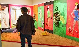«Raysse Beach», peinture de Martial Raysse de 1962.