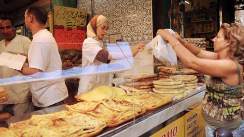 Un marché de Marseille, le 1er septembre 2008, au début de la période du Ramadan.
