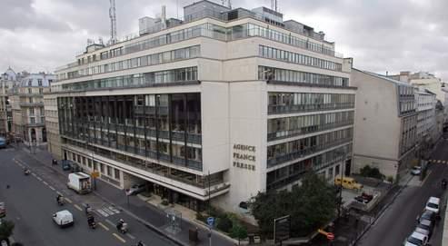 L'immeuble de l'AFP, place de la Bourse à Paris. L'agence vit sous un statut qui date de 1957.