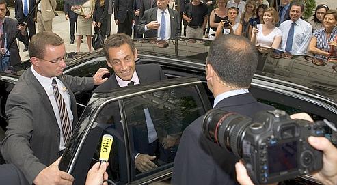 Nicolas Sarkozy s'était rendu à New York le 17 juillet pour s'entretenir avec le secrétaire général de l'ONU, Ban Ki-moon.
