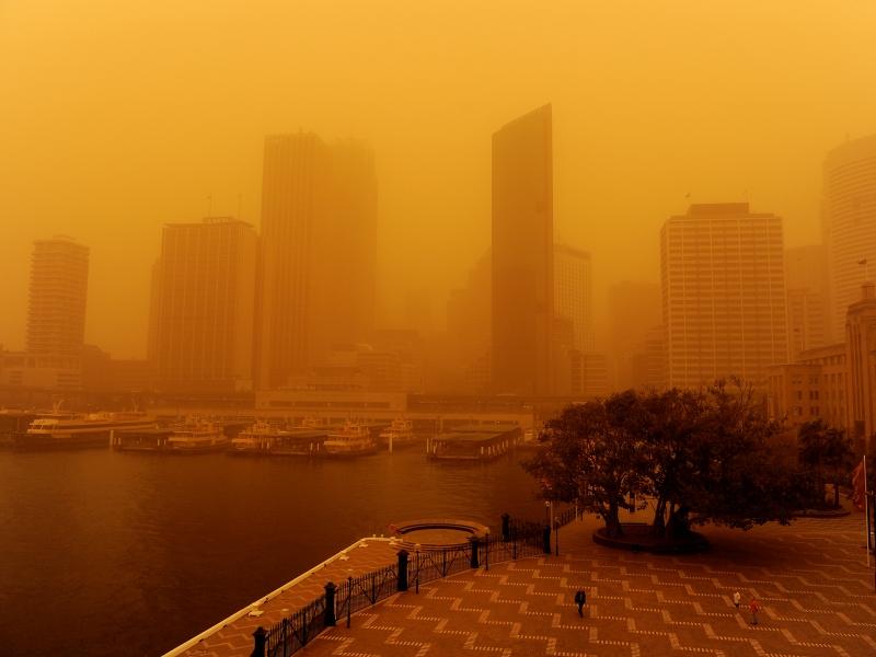 Une énorme tempête de sable rouge venue du désert a fortement perturbé mercredi la vie des habitants de Sydney, alors que l'Australie -qui connaît une période de temps chaud et sec- doit également faire face à des incendies dans le Queensland (nord du pays).
