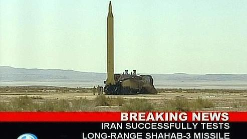 Le missile de longue portée Shahab 3, tiré lundi.
