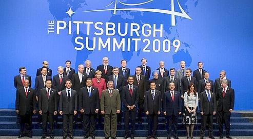 Les chefs d'État du G20, ce vendredi, à Pittsburgh aux États-Unis.