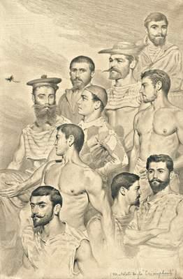 Matelots de la «Triomphante». Mer de Chine, novembre 1885. (Collection particulière)