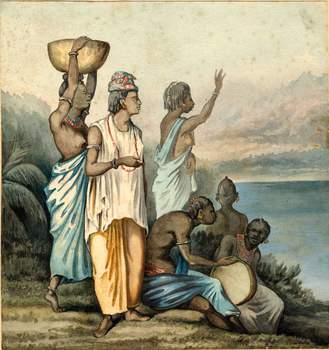 Femmes de Gorée (Juillet 1872) » [lire : Juin 1871]. Aquarelle et gouache. Collection particulière