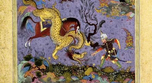 Les déboires du «Livre des rois» Vers 1010, le poète Firdousi mis en vers l'histoire des dynasties perses et la genèse du peuple iranien. Cela donna le Shâh Nâmeh(Le Livre des rois), 60000distiques, une œuvre sept fois plus longue que L'Iliade d'Homère. Cette feuille, une des dix exposées, est issue d'une des plus belles versions, dite Shâh Nâmeh de Houghton.