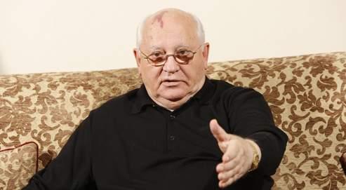 Mikhaïl Gorbatchev, à Genève en Suisse, lors de l'interview avec Le Figaro.