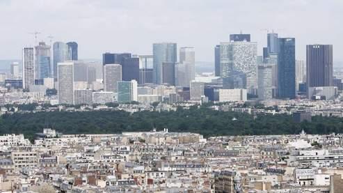 Vue du quartier de la Défense, depuis Paris.