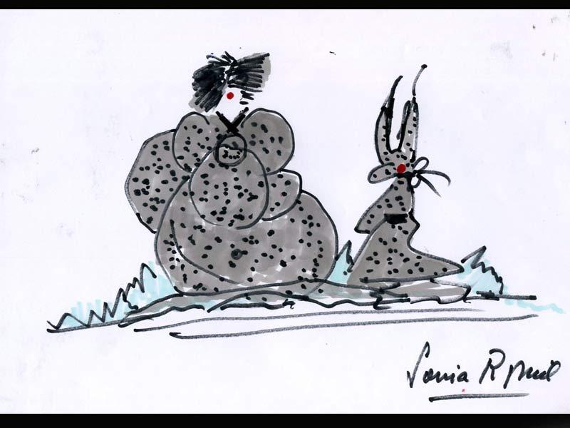 <b>Le tricot magique de Sonia Rykiel</b> - En reine de la maille, Sonia Rykiel rhabille les héros de Goscinny de vêtements bien chauds. Non, non, ce n'est pas une pelote de laine, mais bel et bien Obélix emmitouflé dans un gros tricot gris moucheté de noir pour affronter les rigueurs des campagnes. Son compère adopte un même look puisque les pulls, cet hiver, sont le must have de la saison.