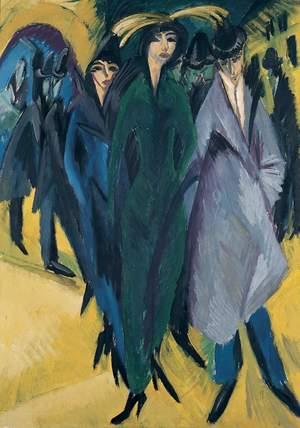 «Femmes dans la rue», E. L. Kirchner ((c)Von der Heydt Museum/Wuppertal)