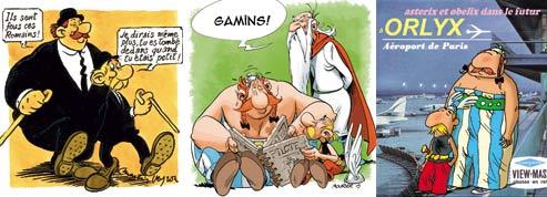 Cinq dessinateurs s'amusent<br>à croquer Astérix et Obélix