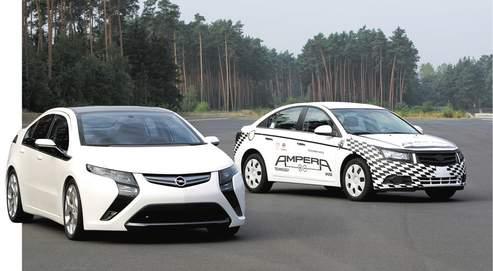 Opel Ampera, une grande routière électrique en 2011