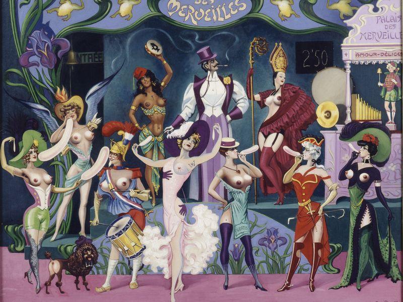Clovis Trouille, Le Palais des Merveilles, Hommage au Modern'Style, 1907-1927-1960