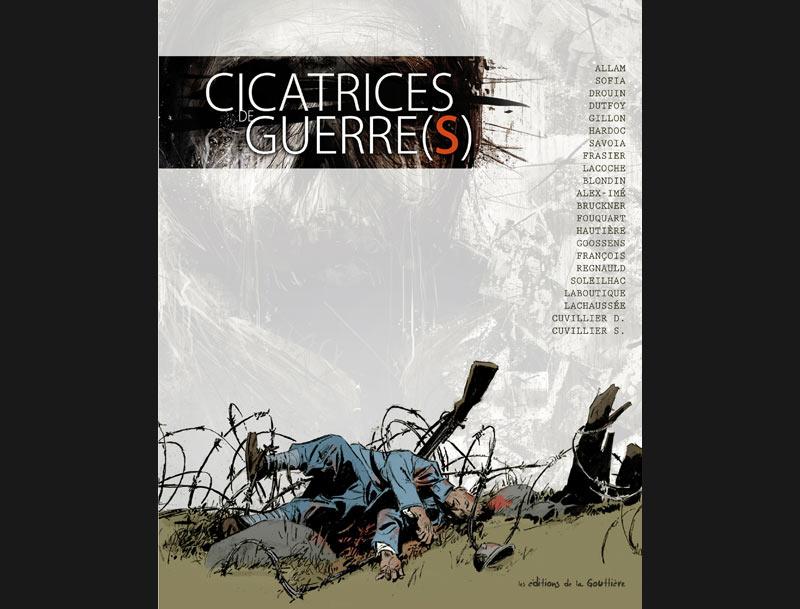''Cicatrices de guerre'', ce sont quinze histoires autour de la guerre 14-18 réunies dans un album, 22 auteurs qui nous livrent chacun à leur façon sa représentation de cette période sombre : la vie dans les tranchées, les gueules cassées, les mutineries, les déserteurs... C'est aussi l'évocation du quotidien des familles dans l'attente ou les affaires des industriels qui vont bon train pendant la guerre.