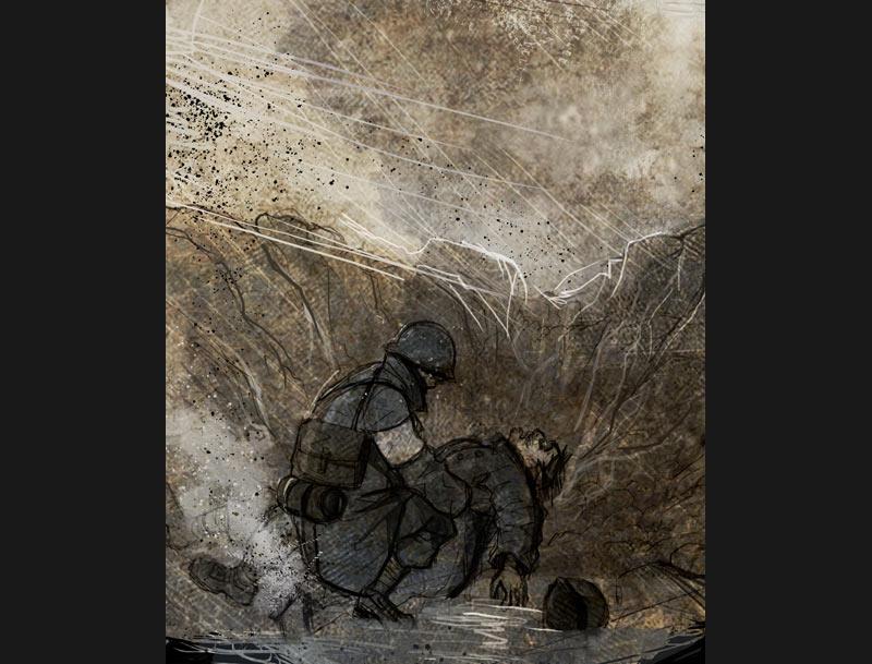 <b>Fragments</b> : Jean-François Bruckner <br /> Évocation de ces morceaux de vie brisées que laisse la guerre derrière elle.