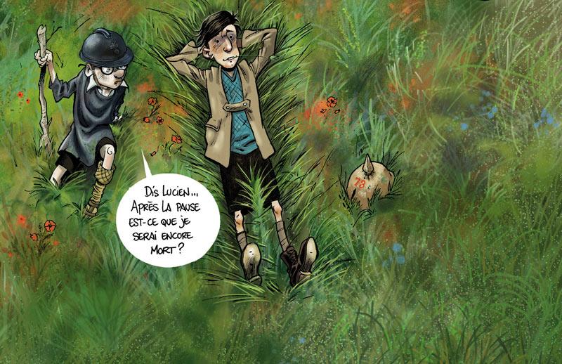 <b>Jeux de guerre</b> : Régis Hautière et Hardoc <br /> Récit du quotidien des enfants pendant la Grande Guerre.