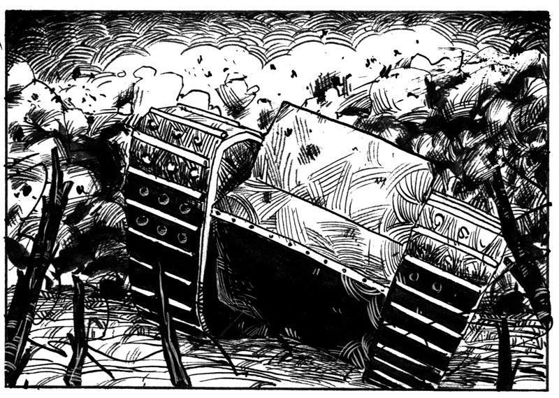 <b>Les ''croix de bois'' de Roland Dorgelès</b> : Greg Blondin <br /> Évocation du thème de l'oubli.