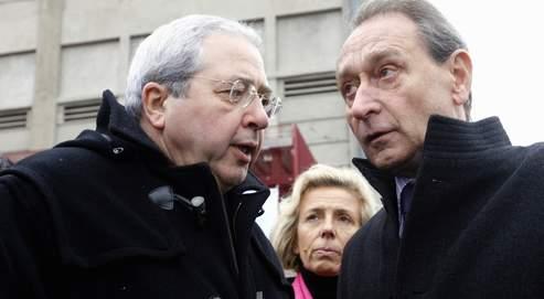 Bertrand Delanoë, maire de Paris et Jean-Paul Huchon , président de la région Ile de France en février 2007.